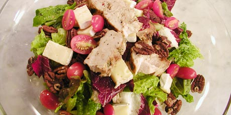Grilled Turkey, Brie and Pecan Salad