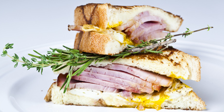 Ham and Egg Grilled Cheese Sandwich