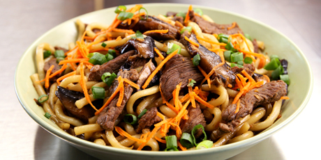 Korean Beef Udon Noodles