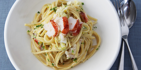 Leek and Lobster Linguine