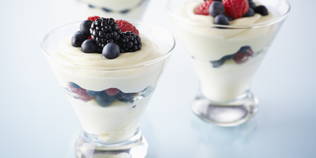 Lemon Curd Whip with Berries