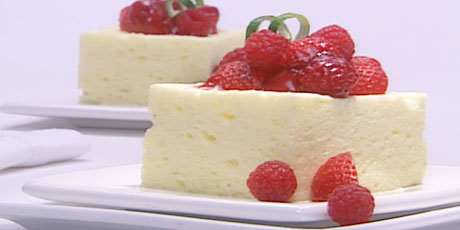 Lemon Lime Mousse with Scented Red Berries