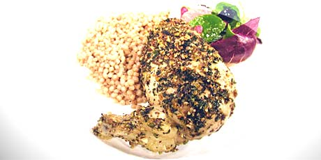 Lime and Mint Crusted Chicken Breast