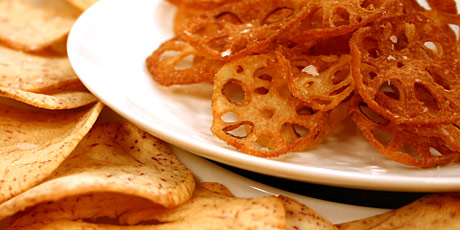 Lotus and Taro Root Chips with Sea Salt
