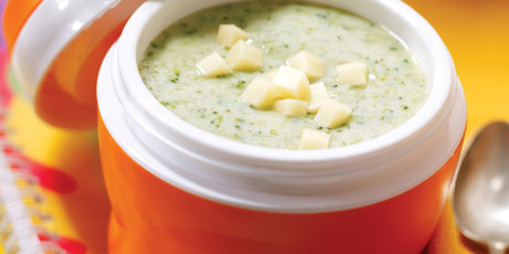 Mean Green Broccoli Soup with Cheddar