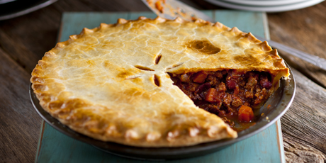 Mexican Beef Pie with Cheddar Crust