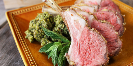 Michael Smith's Herb Crusted Rack of Lamb