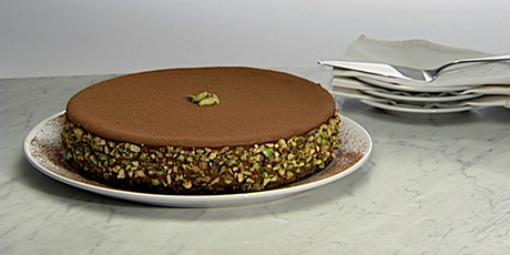 Milk Chocolate Pistachio Cheesecake