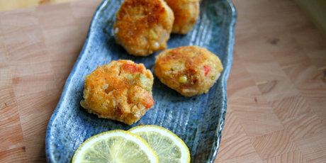 Mini Salmon Chowder Cakes
