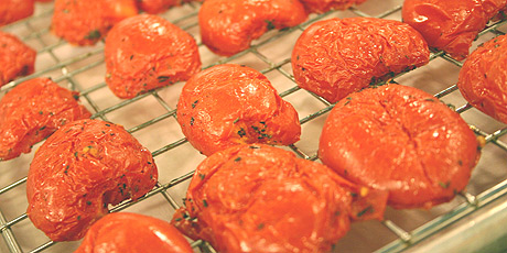 Oven Roasted Tomatoes with Thyme and Garlic