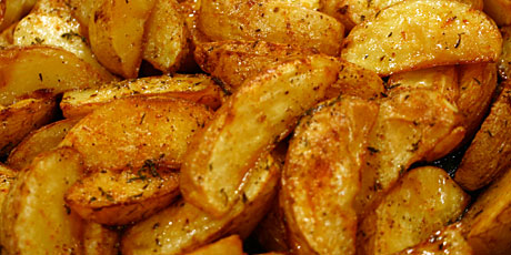 Oven Roasted Yukon Potato Wedges Recipes Food Network Canada