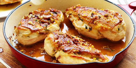 Pan-Roasted Tuscan Chicken with Chestnut Sauce