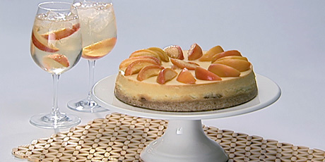 Peach Schnapps Squares with Warmed Peaches