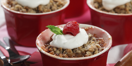 Peach and Raspberry Crumble