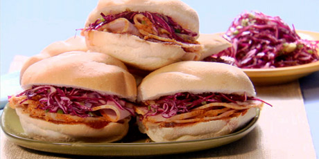 Peameal Sandwiches with Coleslaw