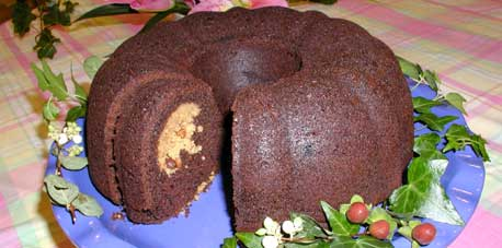 Peanut Butter and Chocolate Bundt Cake