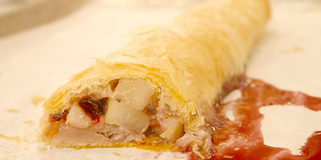 Pear and Currant Jam Strudel