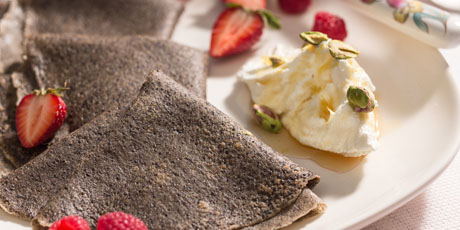 Poppy Seed Buckwheat Crepes