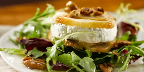 Roasted Pear & Canadian Cheese Torta Salad