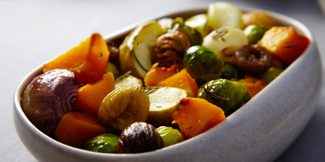 Roasted Vegetables with Chestnuts