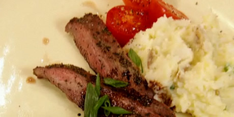Rosemary Steak and Cauliflower-Mash