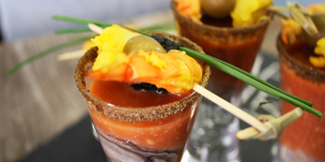 Saffron Shrimp Shots