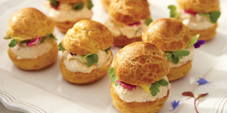Savoury Cream Cheese Profiteroles