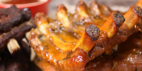 Slow-Baked Honey Mustard Ribs
