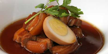 Stewed Pork with Eggs in Soy Sauce (Moo Palo)