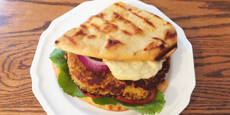 Sweet Potato Chickpea Patties with Curry Mayonnaise