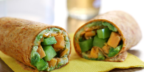 Sweet Potato Sandwich Wrap
