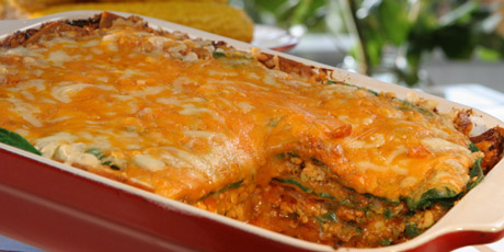 Tortilla Casserole and Corn on the Cob