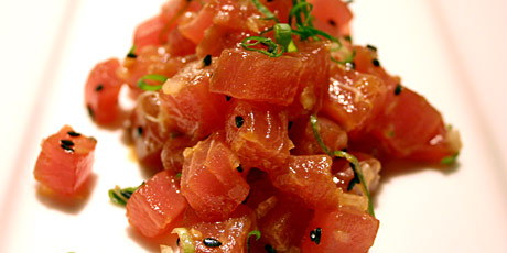 Tuna Carpaccio with Sesame Lime Dressing