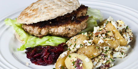 Turkey Burger with Potato Salad