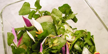 Watercress Salad with Apple and Pistachios