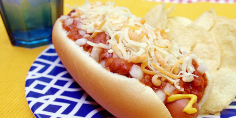 Triple Cheese Chili Dogs