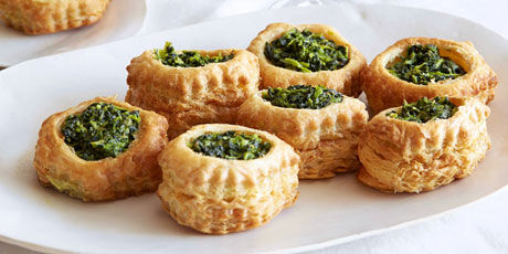 Cheese and Spinach Puff Pastry Pockets