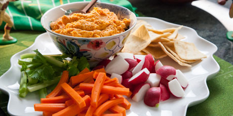 Valerie's Roasted Red Pepper Hummus