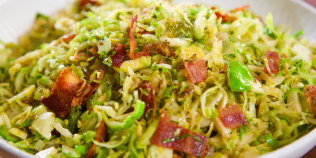 Brussels Sprout and Bacon Hash