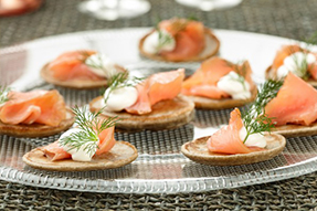 20 quick and easy canap s food network canada for Quick canape ideas