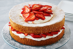 Strawberries and Cream Sponge Cake