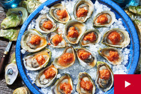 How to Make Oysters with Spicy Tomato Ice