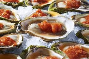 Oysters With Spicy Tomato Ice Recipe
