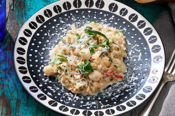 Seafood Risotto with Crab and Scallops