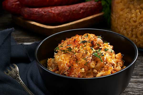 Spanish Mac and Cheese with Chorizo