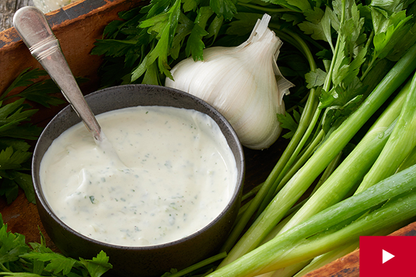 How to Make a Creamy Herb and Garlic Dressing