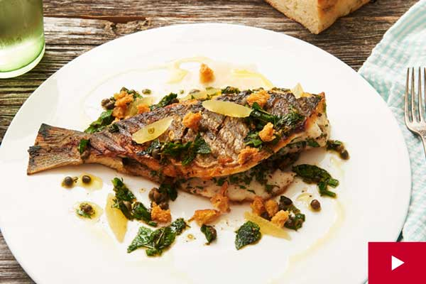 How to Grill a Whole Sea Bream with Fresh Herbs
