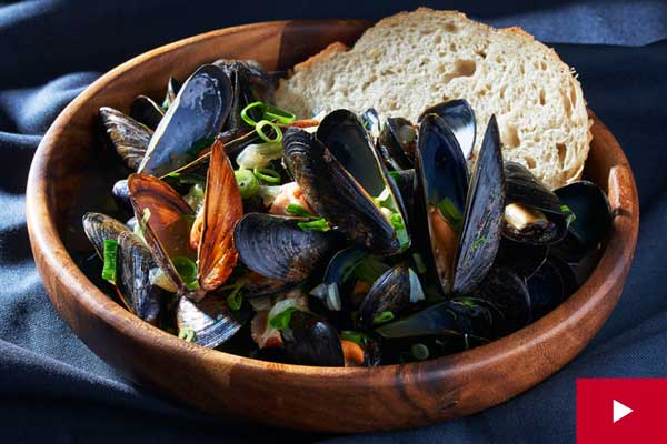 How to Steam the Perfect Pot of Mussels with Bacon and Beer
