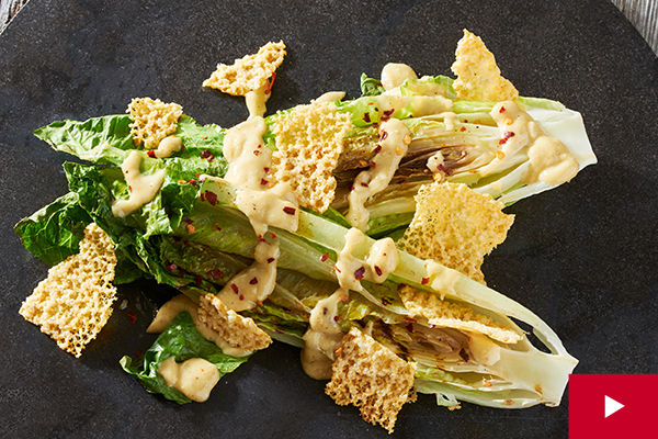 How to Grill Your Caesar and Make the Dressing From Scratch