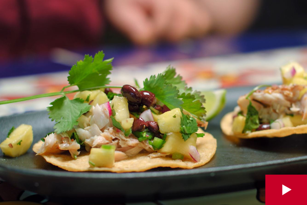 Watch: How to Make Fish Tostadas with Pineapple Salsa